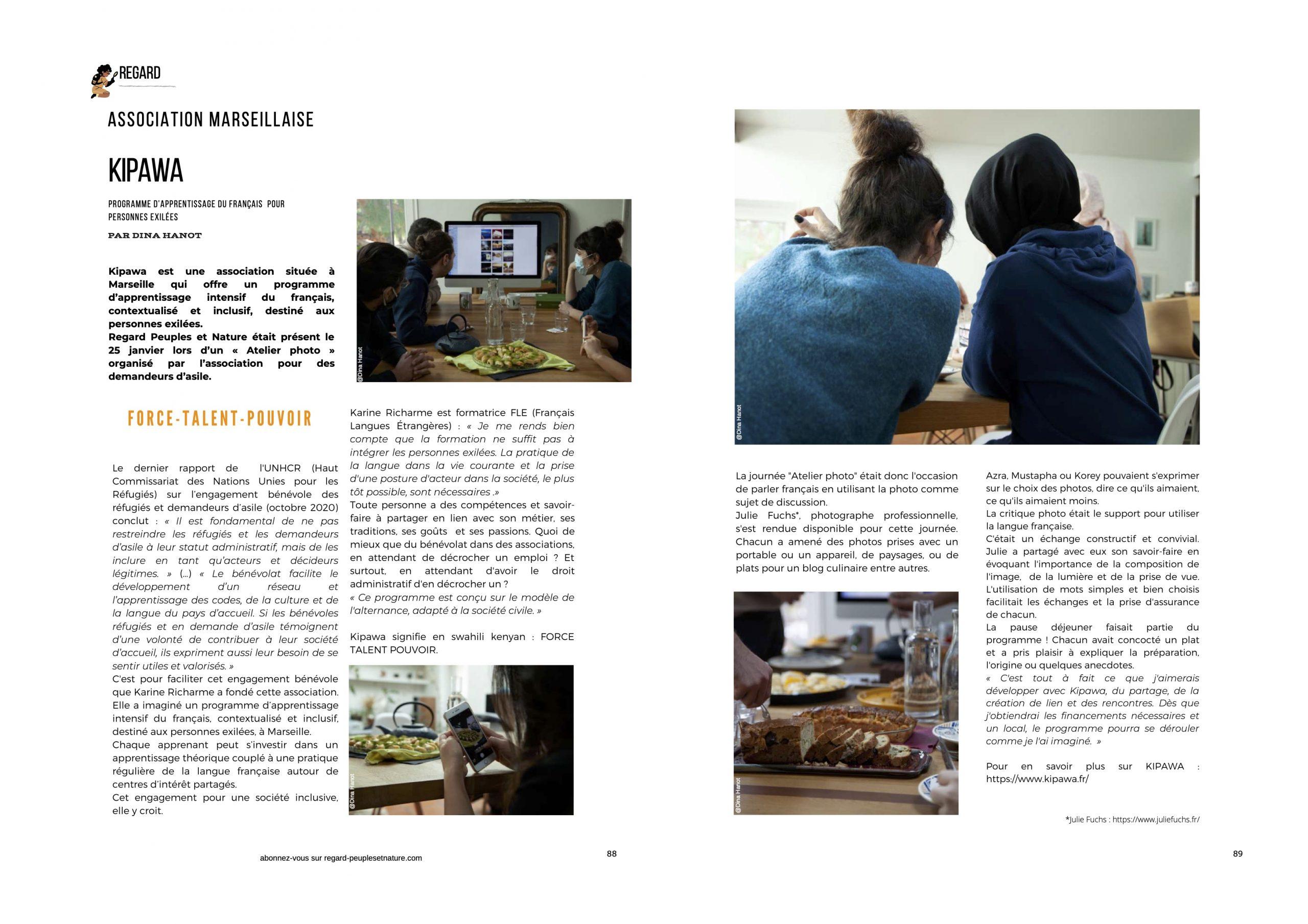 article KPW regards peuples et nature